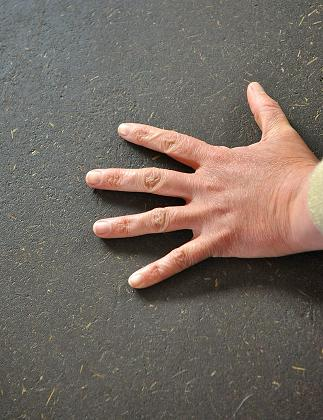 earth finish hand
